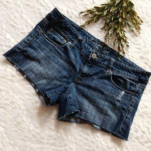 American Eagle denim stretch short shorts size 14